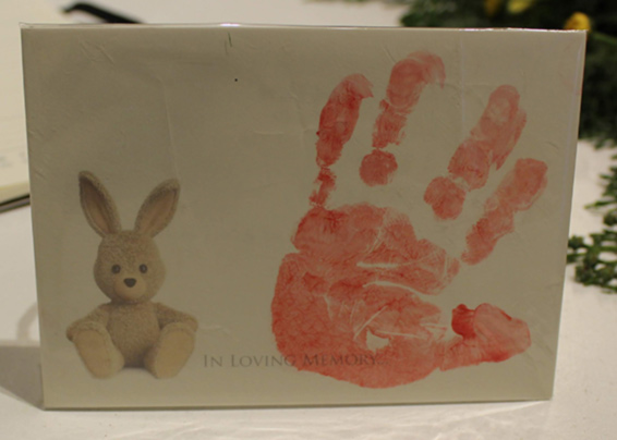 Baby Hand print symapathy card, when words weren't enough to express grief