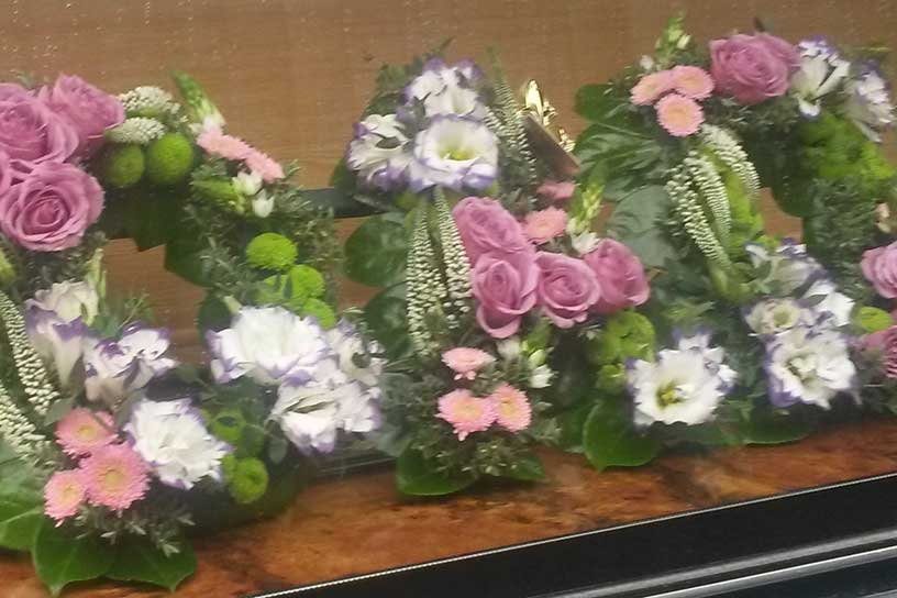 Oadby florist, Wigston florist, Dad funeral lettering,symapthy tribute